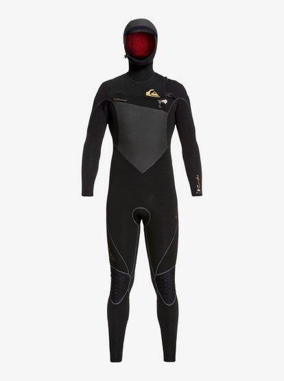 6/5/4mm Highline Series - Combinaison de surf GBS à capuche avec zip poitrine pour Homme - Noir - Quiksilver