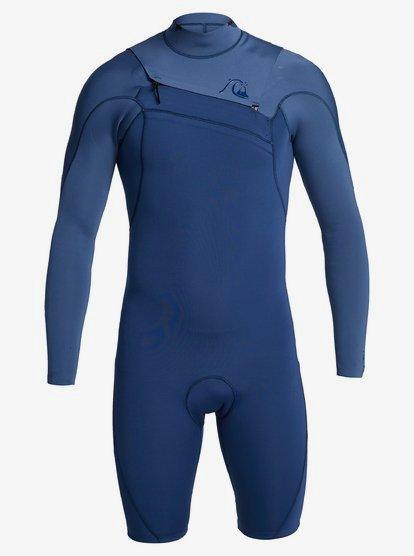 2/2mm Highline Ltd - Long Sleeve Chest Zip Springsuit for Men - Blue - Quiksilver