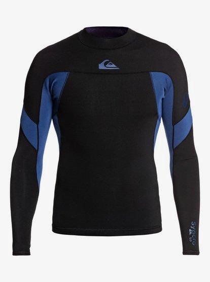 1mm Syncro - Long Sleeve Neoprene Surf Top for Men - Black - Quiksilver