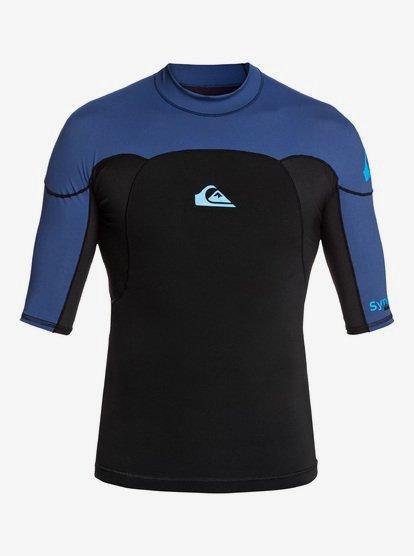 1mm Syncro - Short Sleeve Neoprene Surf Top for Men - Black - Quiksilver