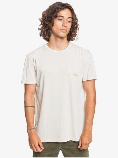 Clothing & Accessories Basic Bubble - Pocket T-Shirt for Men - Beige - Quiksilver