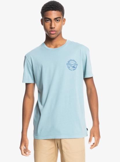 Clothing & Accessories Double Palms - Organic T-Shirt for Men - Blue - Quiksilver