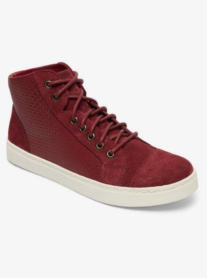 Melbourne - Baskets en cuir mi-Hautes pour Femme - Rouge - Roxy