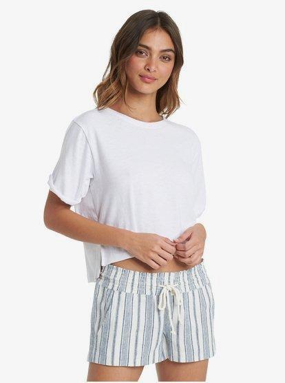 Coast Gold - T-shirt boyfriend pour Femme - Blanc - Roxy