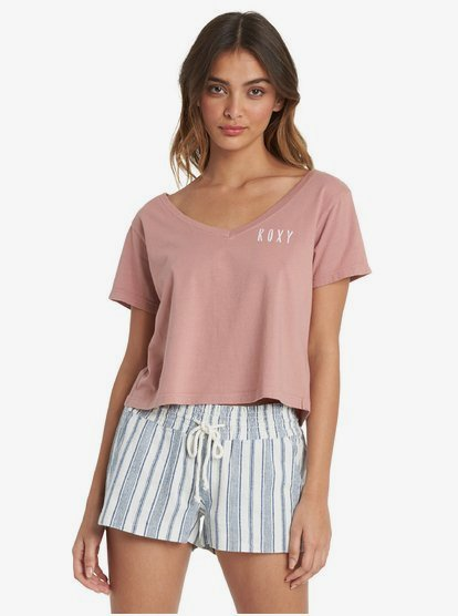 Mountain Dream - T-shirt col V pour Femme - Rose - Roxy