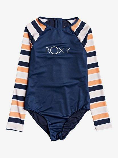 Made For ROXY - Rashguard une pièce zippé manches longues UPF 50 pour Fille 8-16 ans - Orange - Roxy