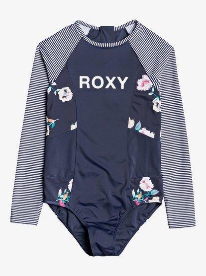 Lets Get Salty - Rashguard une pièce manches longues UPF 50 pour Fille 8-16 ans - Bleu - Roxy