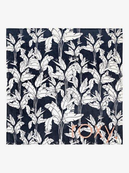 Flower And Ocean - Serviette de plage double - Bleu - Roxy