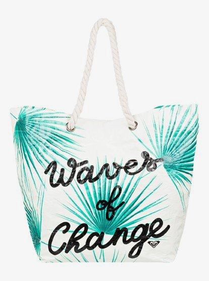 Waves Of Changes - Bolsa de Playa de Reversible Reciclada - Blanco - Roxy