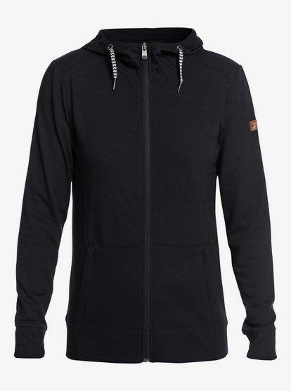 Delta - Sudadera de diseño técnico con capucha y cremallera para Mujer - Negro - Roxy