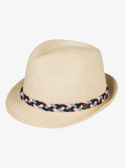 Sentimiento - Sombrero Trilby de Paja para Mujer - Amarillo - Roxy