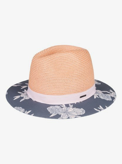 Youhou - Sombrero Protector de Paja para Mujer - Negro - Roxy