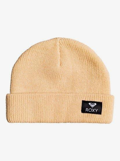 Island Fox - Bonnet à revers pour Femme - Beige - Roxy