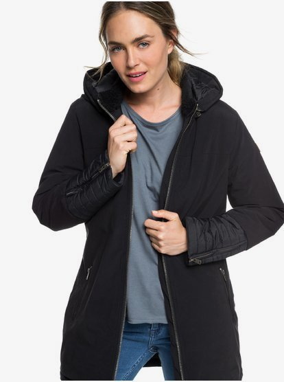 Snow Escape - Parka acolchada con capucha para Mujer - Negro - Roxy