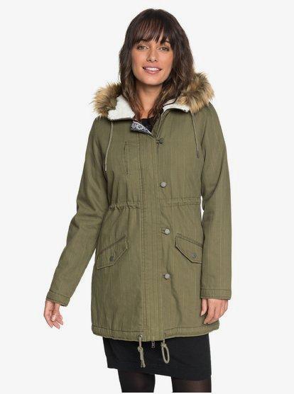 Essential Element - Parca con capucha para Mujer - Verde - Roxy