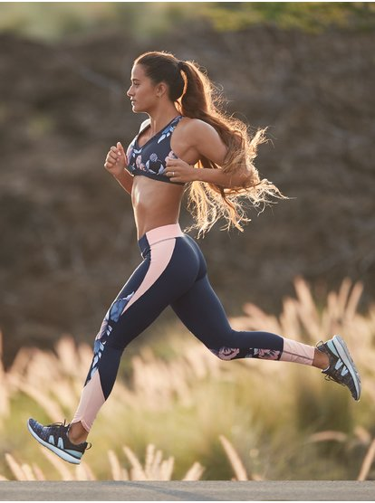 Flying Kisses - Sujetador Deportivo para Mujer - Azul - Roxy