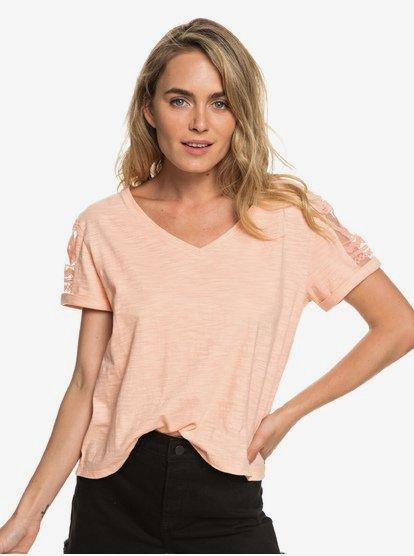 Turn Around Me - Camiseta para Mujer - Rosa - Roxy