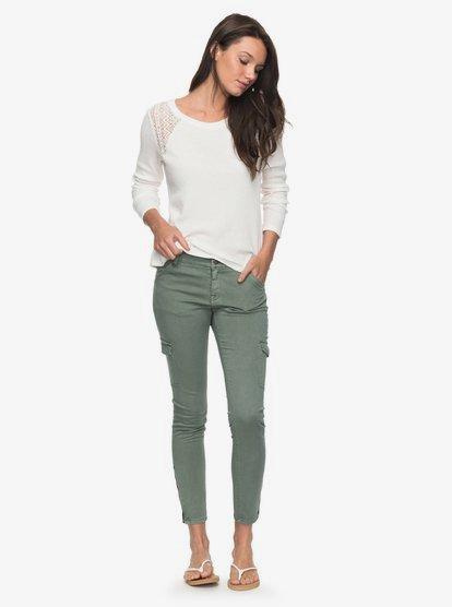 Baya - Pantalón Cargo de Corte Ceñido para Mujer - Verde - Roxy