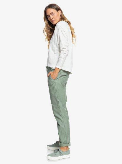 Remember The Travel - Pantalon Boyfriend fit pour Femme - Vert - Roxy