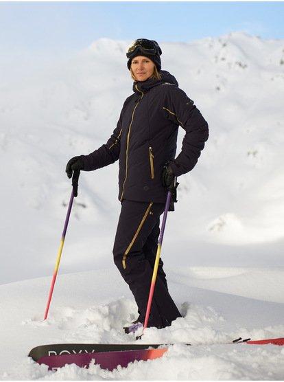 ROXY Premiere Snow - Chaqueta para Nieve para Mujer - Negro - Roxy