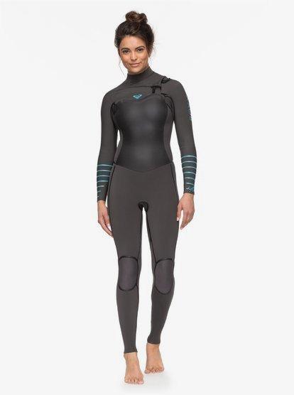 3/2mm Syncro Plus - Traje de Surf con Cremallera en el Pecho para Mujer - Gris - Roxy