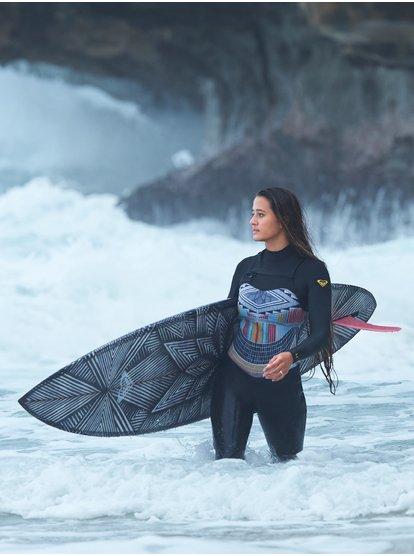 3/2mm POP Surf - Traje de surf con cremallera en el pecho para Mujer - Negro - Roxy