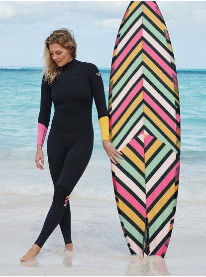 3/2mm POP Surf - Combinaison zip poitrine pour Femme - Noir - Roxy