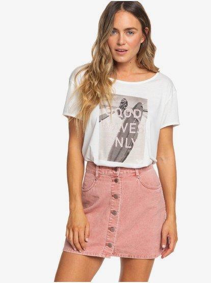 Unforgettable Fall - Jupe boutonnée en velours pour Femme - Rose - Roxy