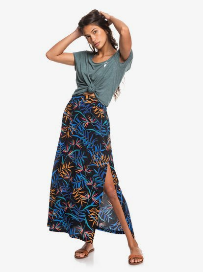 Tropical Chancer - Jupe longue pour Femme - Noir - Roxy
