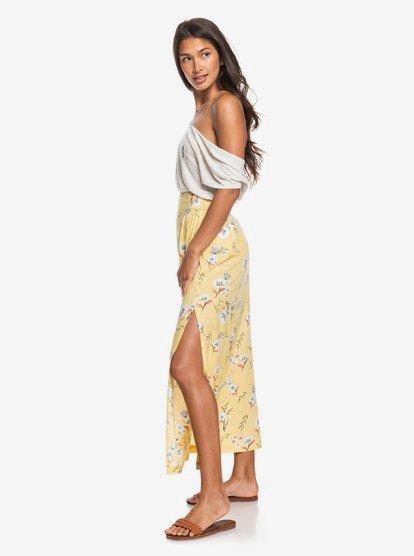 Tropical Chancer - Jupe longue pour Femme - Jaune - Roxy