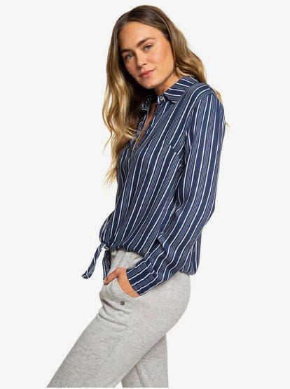 Suburb Vibes - Camisa de manga larga para Mujer - Azul - Roxy