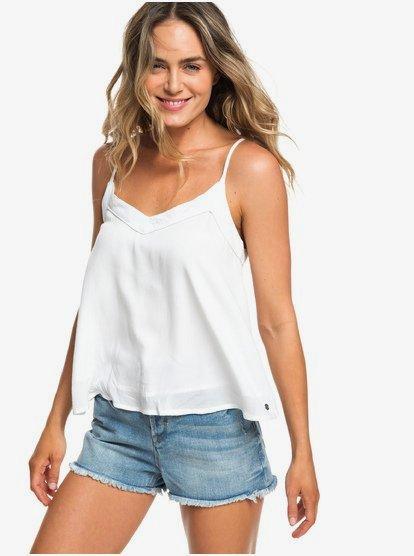 Off We Go - Camiseta de Tirantes Finos para Mujer - Blanco - Roxy