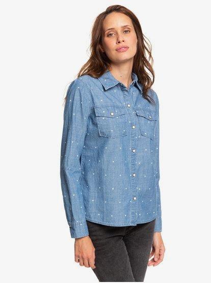 Paradisiac Cascade - Chemise manches longues pour Femme - Bleu - Roxy