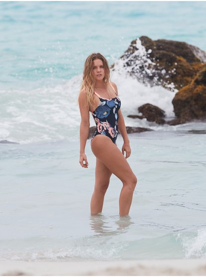ROXY Fitness - Bañador Entero para Mujer - Azul - Roxy