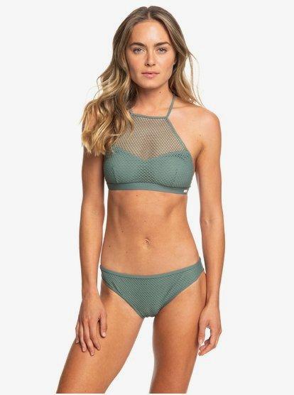 Garden Summers - Conjunto de Bikini Crop Top para Mujer - Verde - Roxy