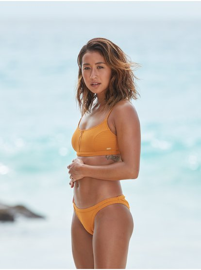 Color My Life - Top de Bikini Bralette para Mujer - Naranja - Roxy