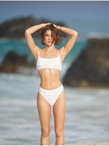 Color My Life - Top de Bikini Bralette para Mujer - Blanco - Roxy