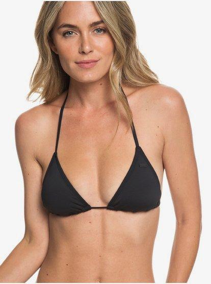 Beach Classics - Top de Bikini Tiki Tri para Mujer - Negro - Roxy