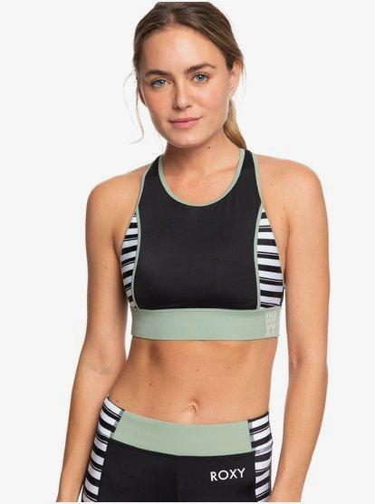 ROXY-Fitness-Crop-Top-Bikini-Top-for-Women-Black-Roxy