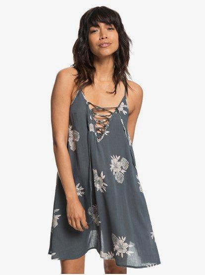 Softly Love - Vestido de Playa con Tirantes para Mujer - Negro - Roxy