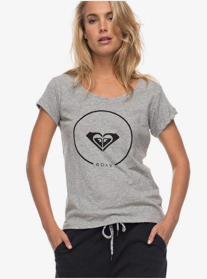 Bobby Twist Essential - Camiseta para Mujer - Gris - Roxy