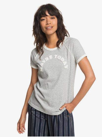 Beachy Baby A - Camiseta para Mujer - Gris - Roxy