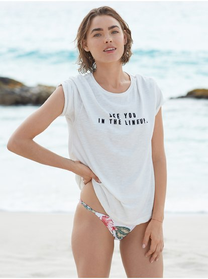 Follow Me To The Beach D - Camiseta para Mujer - Blanco - Roxy