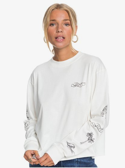 Fly Over The World B - T-shirt manches longues pour Femme - Blanc - Roxy