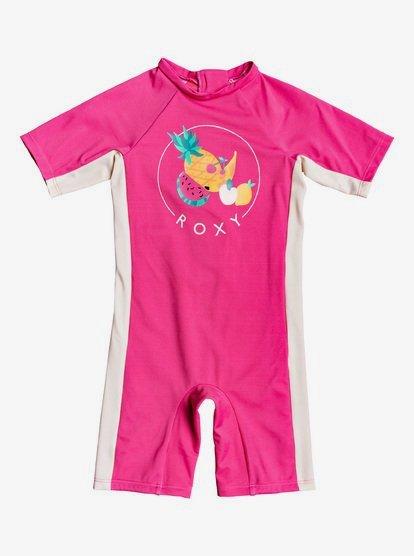 Springsuit - Rasguard une pièce manches courtes UPF 50 pour Fille 2-7 ans - Rose - Roxy