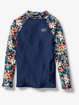 록시 UPF 50 여아용 래쉬가드 수영복 Roxy Ariel Sebastian Floral Whole Hearted Long Sleeve Rash Vest,DRESS BLUES SEBASTIAN FLORAL B (btk7)
