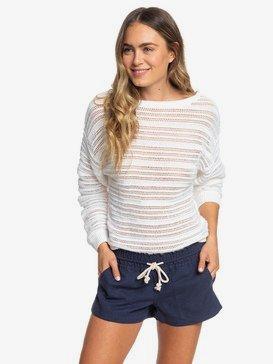 록시 비치 반바지 Roxy Oceanside Linen Beach Shorts,MOOD INDIGO (bsp0)