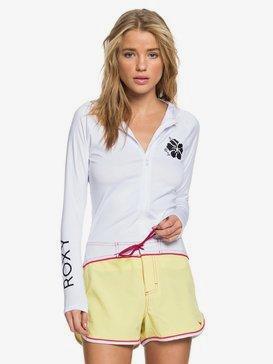 록시 Roxy Sandy Long Sleeve UPF 50 Hooded Rash Vest,BRIGHT WHITE (wbb0)