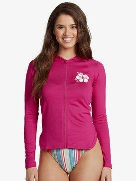 록시 UPF 50 래쉬가드 Roxy Sandy Hooded Printed Lycra Hooded Long Sleeve Rash Vest,BEETROOT PURPLE (mml0)