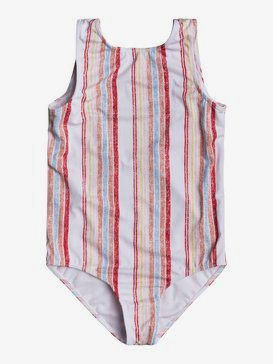록시 여아용 8-16 원피스 수영복 Enjoying Waves One-Piece Swimsuit,BRIGHT WHITE BRUEL STRIPES S (wbb3)